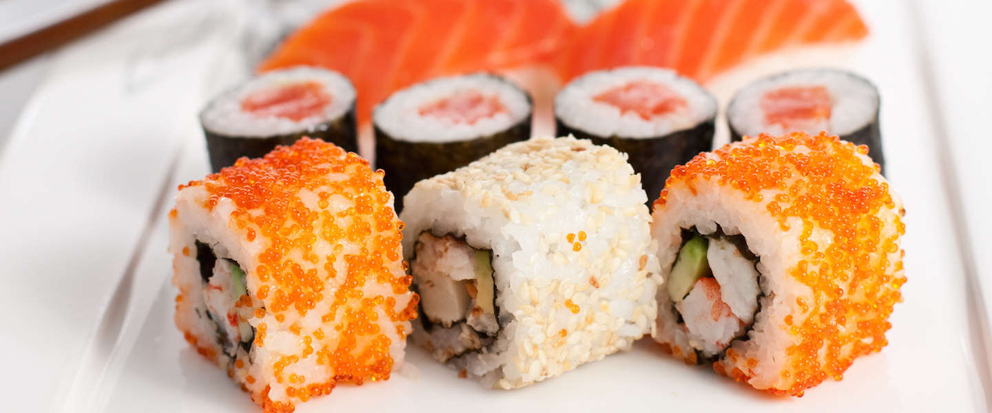 Zit all-you-can-eatsushi vol met bacteriën?