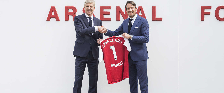 Arsenal gekleed door Cavallaro Napoli