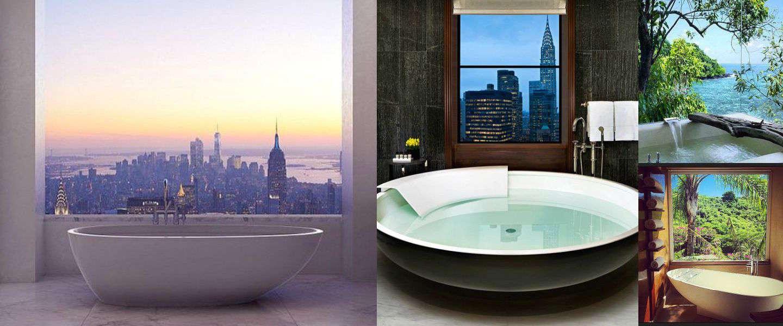 10 x badkamers met een prachtig uitzicht