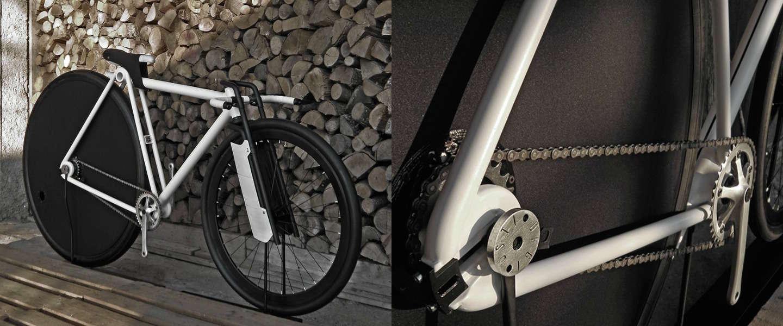 Bijzondere fiets: 3D-geprinte fiets met groot achterwiel