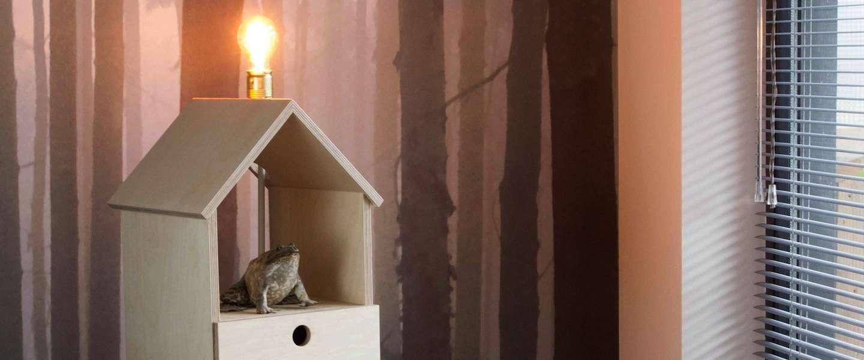 Dit vogelhuisje is én een kastje én een lamp!