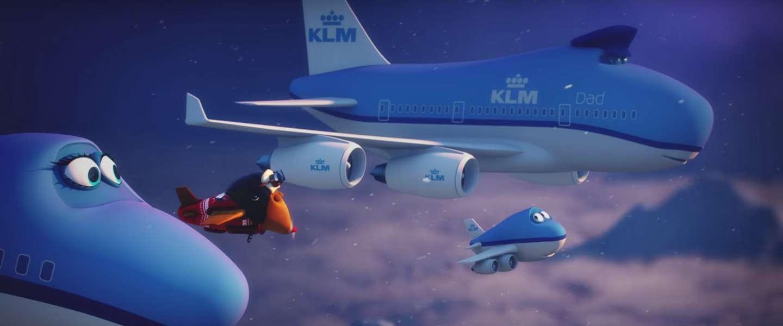 Leuke kerst animatiefilm van KLM met mascotte Bluey