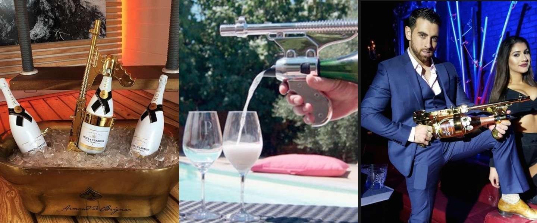 Next level feesten met de Champagne Gun