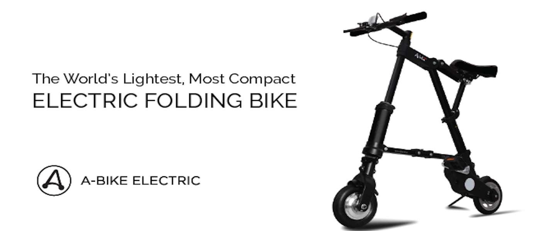 A-Bike: de lichtste elektrische vouwfiets ter wereld