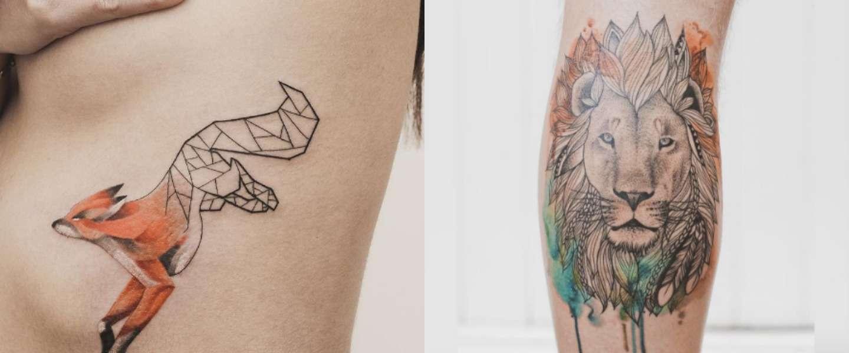 10 super toffe geometrische tattoos. Black Bedroom Furniture Sets. Home Design Ideas