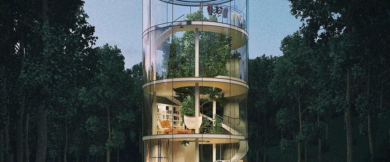 Dit fantastische huis is gebouwd rondom een boom