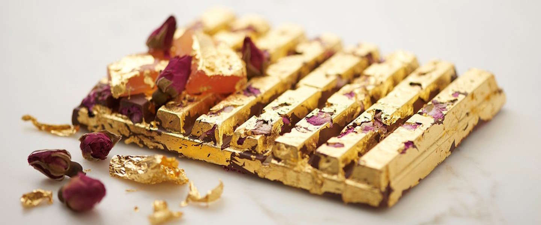 Deze KitKat is bedekt met eetbaar 24 karaats goud