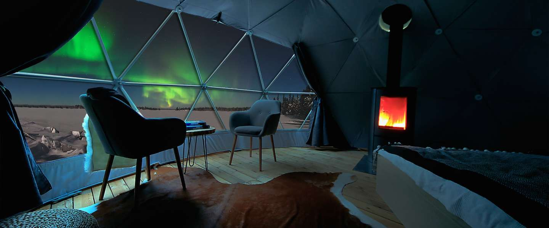 Slapen in een iglo in Fins Lapland
