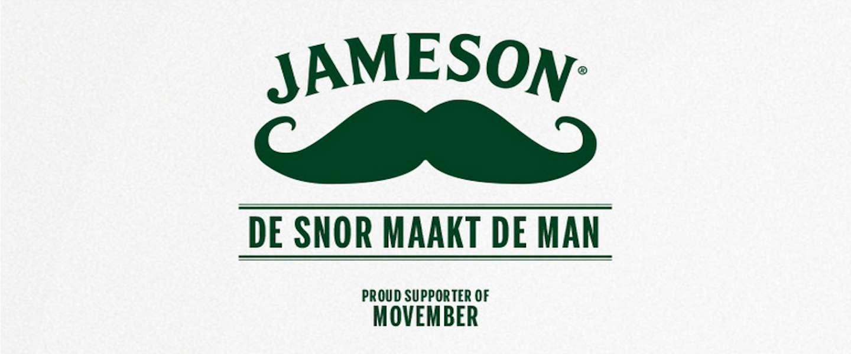 Whiskey-merk Jameson speelt actieve rol rondom Movember!