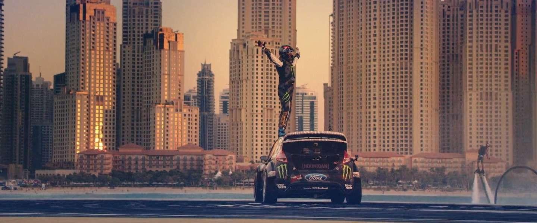 Ken Block en de politie in een verlaten Dubai, bruter kan haast niet