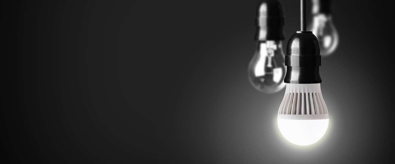 Retro Bureaus met LED verlichting en stopcontact