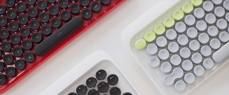 Toetsenbord in typemachine-stijl LoFree is retro én modern
