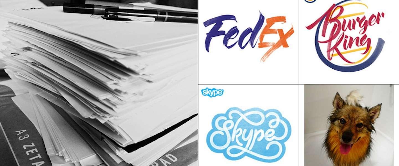 Volgen! Sarah Marshall tekent geweldige logo's van bekende merken uit de losse pols!
