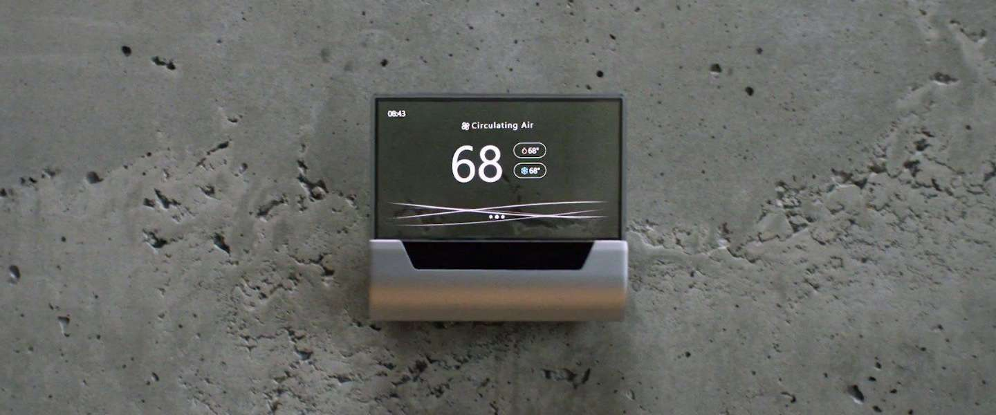 Microsoft bouwt Cortana in prachtige slimme thermostaat GLAS