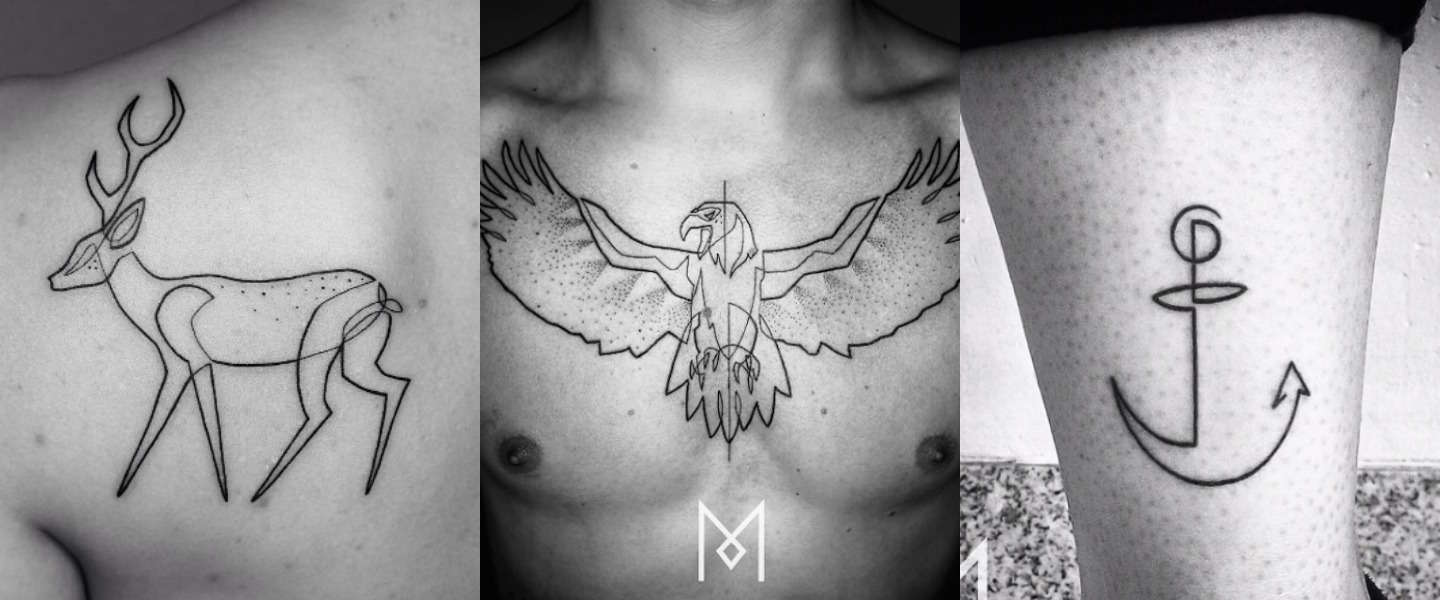 17 coole minimalistische tattoos
