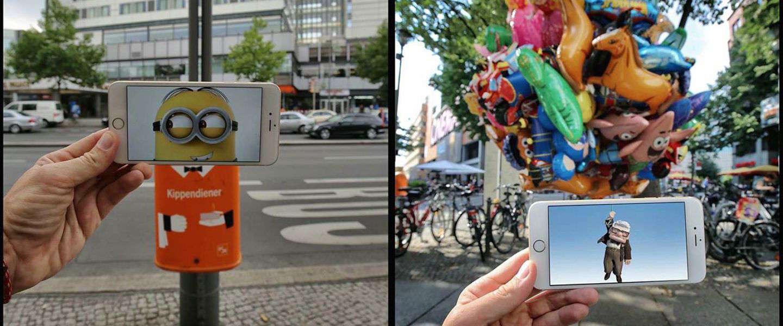 Deze man gebruikt zijn iPhone om tv en filmkarakters in de echte wereld te plaatsen