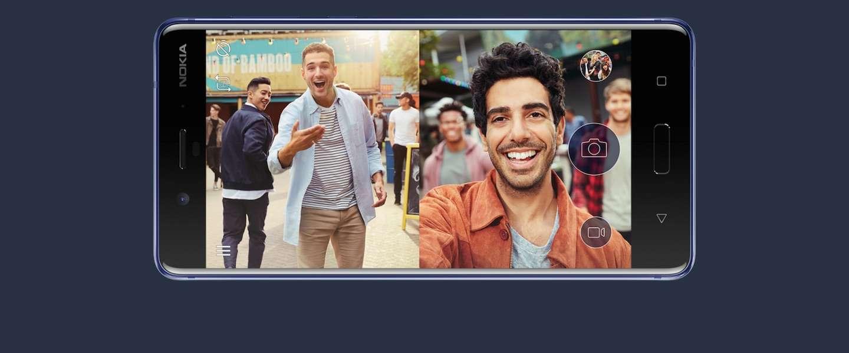 De nieuwe Nokia 8: aan twee kanten tegelijkertijd foto's maken