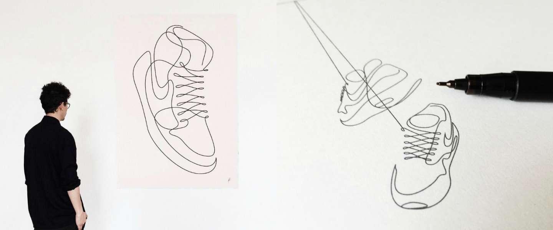 Sublieme one line-illustraties van Differantly