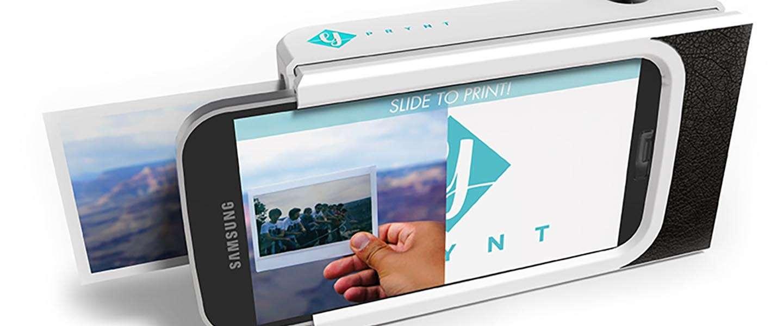 Deze smartphone case heeft een ingebouwde printer