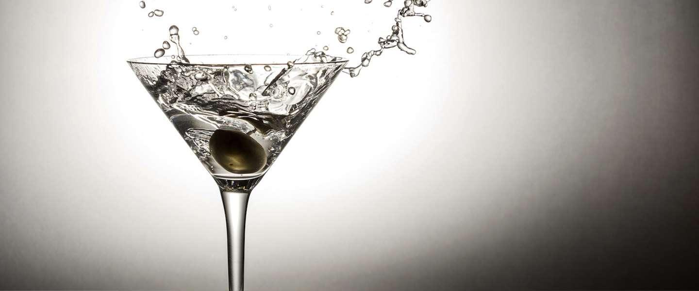 Glas van roestvrij staal houdt je Martini ten alle tijden koud!