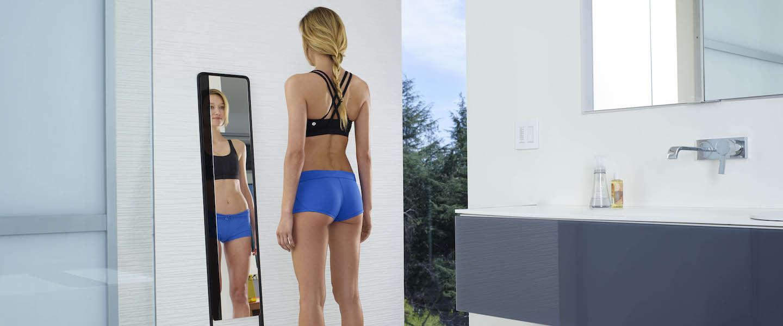 Deze slimme fitness spiegel scant je hele lichaam in 3D in 20 seconden