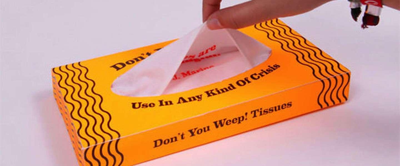 Opbeurende tissues om je tranen voorgoed te laten verdwijnen!