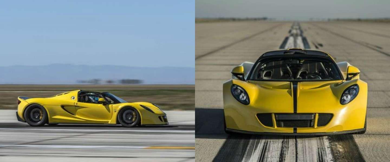Deze Hennessey Venom GT Spyder is de snelste cabrio ooit