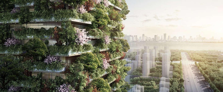 China gaat een verticaal bos bouwen voor de broodnodige co2