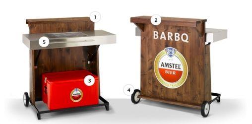 Amstel Bar BQ, ook al is het er nog geen weer voor!