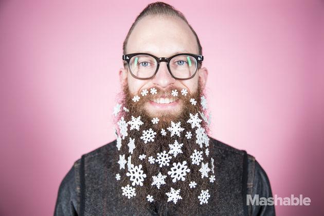 baard-sneeuwvlokken-sticker