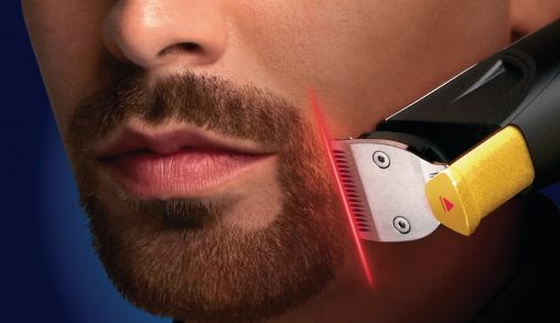 Baardtrimmer met laser