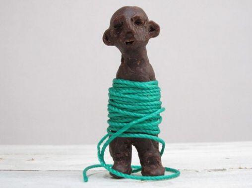 beeld met touw