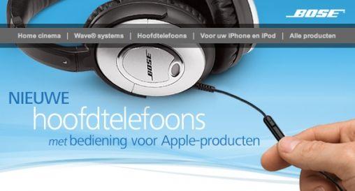 Bose hoofdtelefoons mét Bediening voor Apple-producten