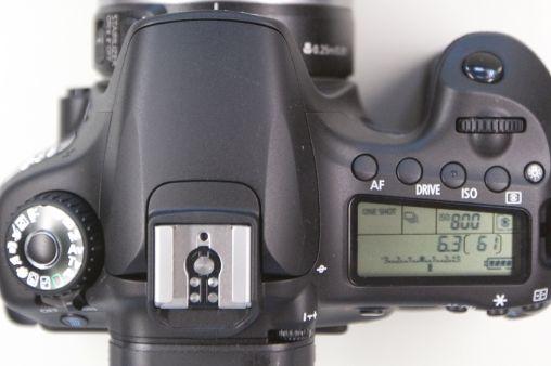 Canon 60D top detail