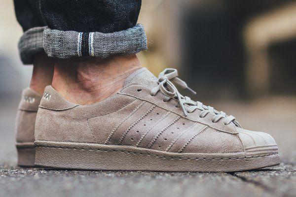 Superstar Adidas Grijs Suede