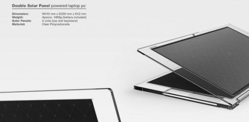 """Draadloze Laptop """"Fujitsu Luce"""" op Zonne-energie"""