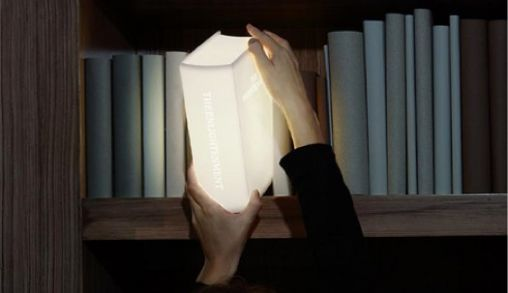 Enlightenment, de perfecte boekenkastlamp
