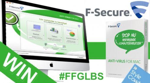 #FFGBLS Maak kans op F-Secure Anti-Virus for Mac (20x)