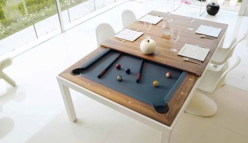 Fusion Table: Eettafel en pooltafel in één