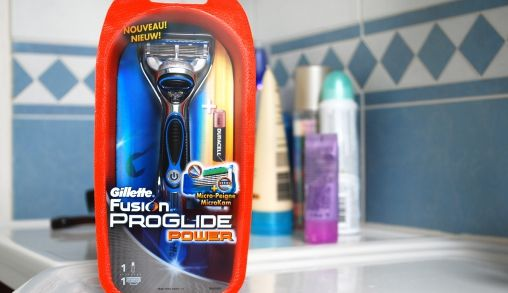 Gillette Fusion ProGlide Power in gebruik