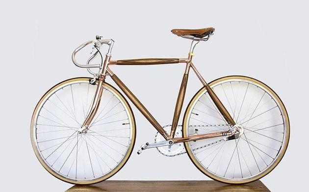 4 gave stijlvolle houten fietsen for Minimalistische fiets