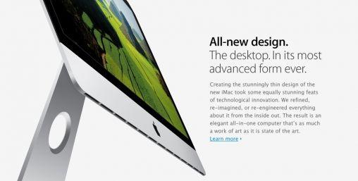 iMac 21,5- en 27-inch nieuw design en schijftechnologie