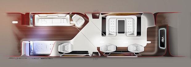 Indeling cabine Mercedes en Lufthansa