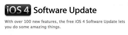 iOS 4 software update