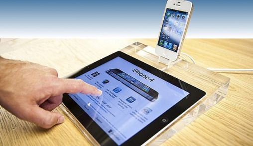 iPad 2 Display dock zoals in de Apple Store