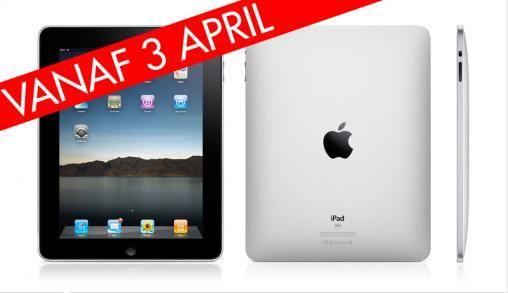 iPad vanaf 3 april verkrijgbaar (Wi-Fi)