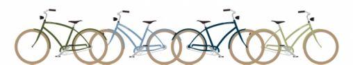 Johnny Loco's fietsen in vintage kleuren