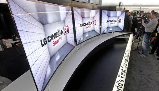 LG komt met gebogen Televisieschermen