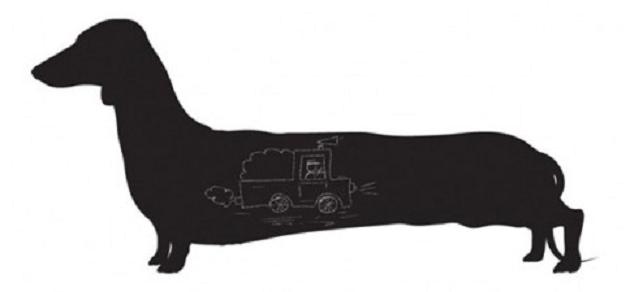 Long Dog Larry muursticker