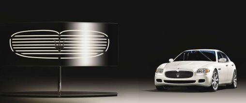 Maserati auto en lamp